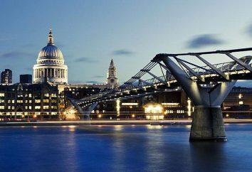 Millennium – Bridge in London, eine der ersten Attraktionen des neuen Jahrtausends