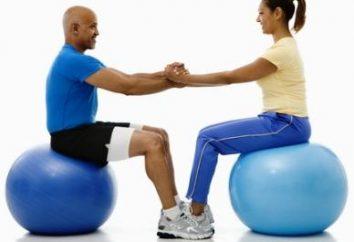 Balle fitness et exercices avec elle