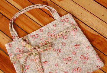 Come cucire un sacchetto con le mani dal tessuto. Borsa estiva fatta di stoffa con le mani