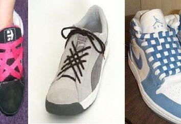 Chaussure à lacets avec 5 trous. Types et méthodes shnurovok