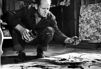"""Pollok Dzhekson: malowidła w stylu """"techniki nalewania"""""""