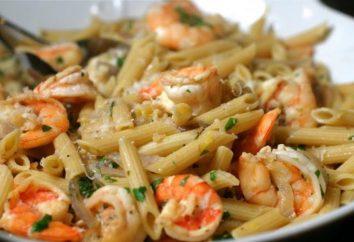 Pâtes aux crevettes dans une sauce à la crème: des recettes pour des plats délicieux et parfumé