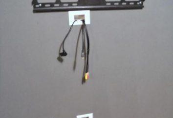 Comment cacher le fil de votre téléviseur sur le mur: des idées intéressantes et recommandations