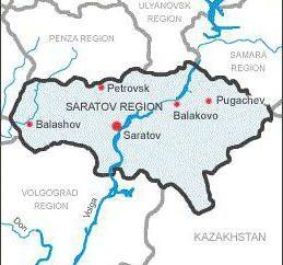 Bevölkerung und Fläche der Region Saratow. Regionen und Städte