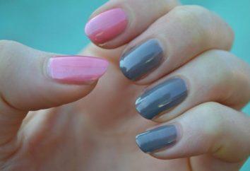 Comment maquiller les ongles avec deux couleurs? Des moyens simples