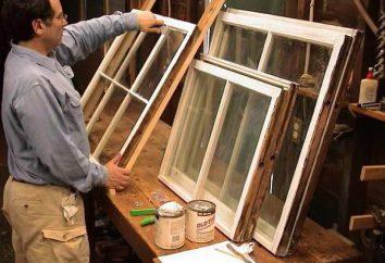 Restauração das janelas: ferramentas, material e tecnologia