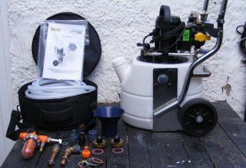 Instalacja do mycia wymienników ciepła: zasada działania. Pompa do płukania wymienników