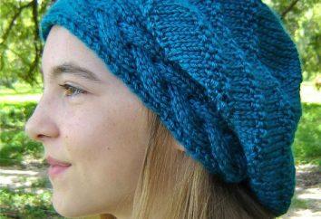 accessoire beau et chaud – un chapeau avec tresses. Aiguilles à tricoter apprendre à tricoter une coiffe