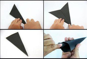 Aprendemos a fazer shuriken a partir do papel