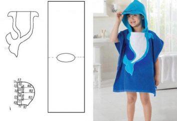 """Wzór """"szlafrok dziecięcy z kapturem""""różnych stylów i opcji do modelowania"""