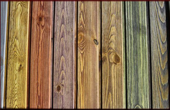 madera de colores para los muebles o el parqué con sus propias manos