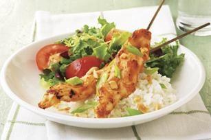 Chicken shish kebab a casa