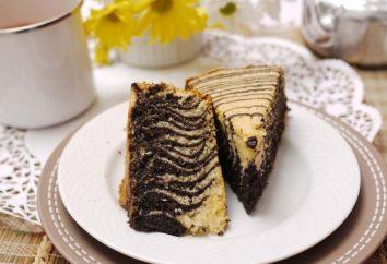 """Pastel de crema agria """"cebra"""" – una receta sencilla para principiantes amas de casa en dos versiones"""