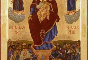 """Icona della Madre di Dio """"vivificante Primavera"""": ciò che aiuta. Tempio della Madre di Dio """"Life-Giving Primavera"""""""