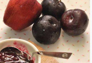 Apple et confiture de prune: savoureux, élégant, simple!