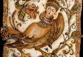 Slawische Mythologie: ein Vogel mit einem menschlichen Gesicht