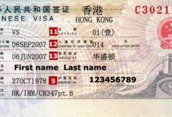 Visa para Hong Kong: a ordem dos documentos de registo
