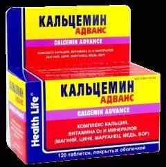 Le médicament « Calcemin Advanced » – vitamines et minéraux a frappé le déficit!