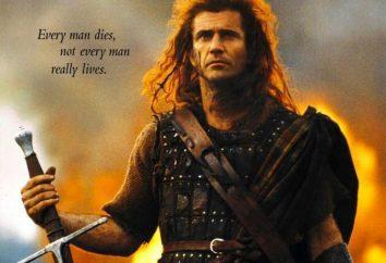 """Os atores do filme """"Coração Valente"""" (1995) Mel Gibson, Sofi Marso, Patrik Makguen, Ketrin Makkormak"""