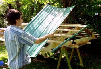 Dach z tektury falistej z rąk: jak to się robi?