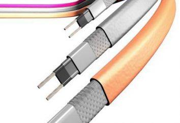 cavi autoregolanti sono: una panoramica dei tipi, in particolare il montaggio e recensioni