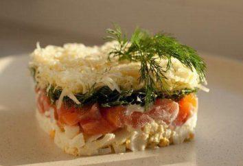 """Salat """"Hill"""". Mehrere Variationen der Zubereitung von Speisen."""