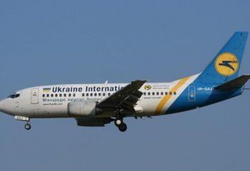 Ukraine International Airlines características clave: