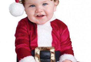 costumes de Noël pour les enfants avec leurs mains: une photo, un modèle. Tricotée costume de Noël pour votre bébé