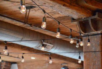 Luzes no sótão: características, tipos, materiais