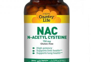 """""""N-acetilcisteína"""": instruções de utilização, análogos e comentários"""