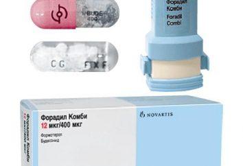 """A droga """"Foradil Kombi"""": instruções de uso"""