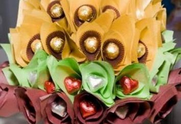 Criar um bouquet do doce com as mãos