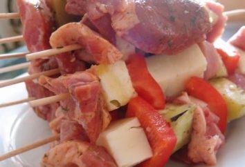 espetos suculentos de carne de porco no iogurte: receita
