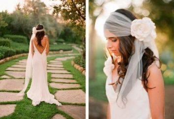 Interessante Ideen: Hochzeit Frisuren für lange Haare mit einem Schleier