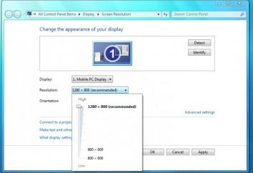 Jak zwiększyć rozdzielczość ekranu, a następnie wybierz urządzenie z optymalną rozdzielczością