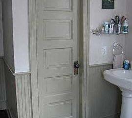 Que porta para o banheiro para escolher?