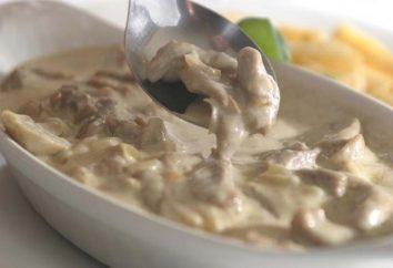 Ricetta befstroganova Manzo: deliziosa carne per la cena