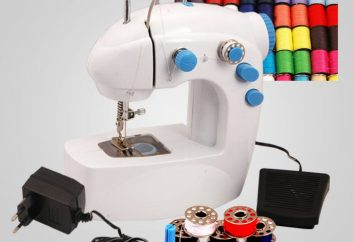 Preciso de uma máquina de costura mini. Comentários, benefícios, equipamentos