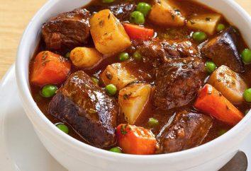 légumes ragoût de recette avec de la viande. recettes simples