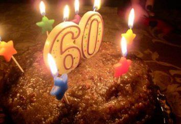 Que donner maman pendant 60 ans? Gâteau et de la poésie pour la mère de 60 ans