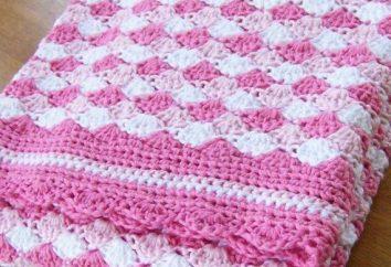 """Imparare a crochet modello """"gusci"""" in maglia. Creare uno scialle di pizzo e bambino sveglio copre"""