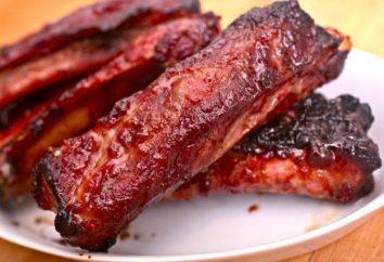 Receitas para marinada churrasco a partir das costelas de porco. Tecnologia de preparação de costelas de porco
