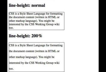 odstęp między wierszami, CSS, podstawy