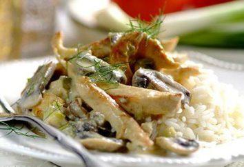 Filet de poulet aux champignons dans multivarka: recettes avec photos
