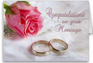 Schöner Wunsch des Brautpaares in ihren eigenen Worten