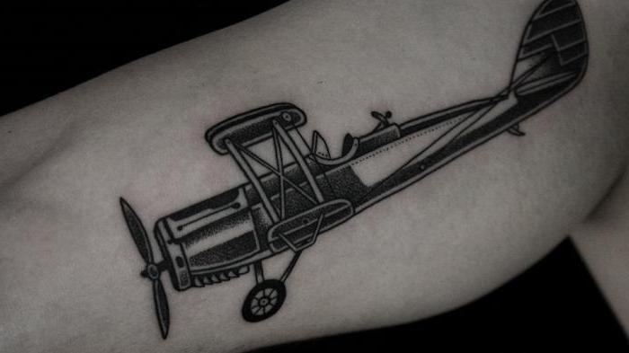 Tatuaż Samolot Wybrać Wolność Miłujących Ludzi