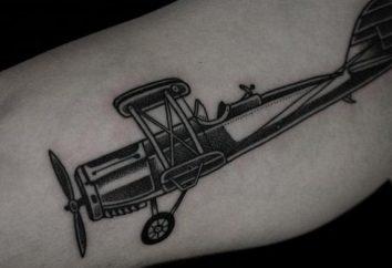 """Tatuaż """"samolot"""" wybrać wolność miłujących ludzi"""