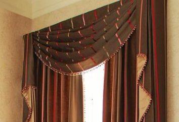Lambrequins dans la chambre à coucher donnera une fenêtre de finition élégante