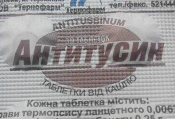 """Antitusin"" instrukcja. Recenzje tabletek ""Antitusin"""