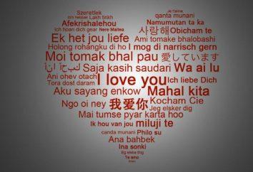 « Je t'aime » dans différentes langues. « Je t'aime » en arabe